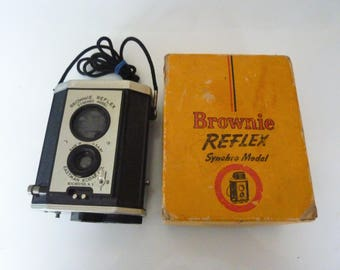 vintage Kodak Brownie reflex #173 with original box