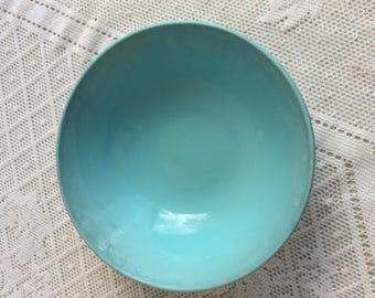 Vintage Aqua Blue Melamine Bowls / Melmac Dessert Bowls by Marcrest