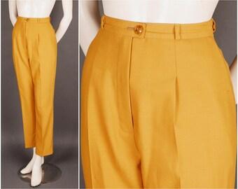 Dandy ladies trousers mustard yellow delicate wool size S (UK 10-12) 1920 20s