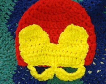 Iron man newborn hat