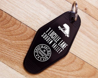 Arrested Development Vintage Hotel Key Tag - 1 Lucille Lane Sudden Valley - Stair Car