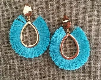 Tassel Earring - Statement Earrings Boho Earrings Beaded Earring