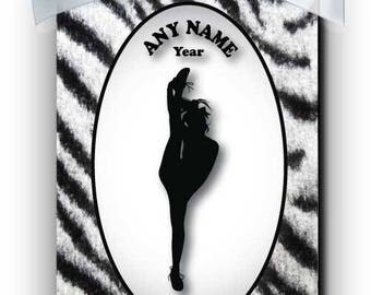Cheerleader Competition 2 Silhouette Personalized Ornament
