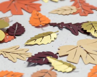 Leaf Confetti - Autumn Wedding - Paper leaves - Table confetti - Woodland wedding - Thanksgiving Decor - Rustic Wedding - Party Decorations