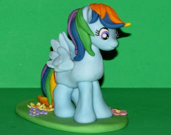 My Little Pony Rainbow Dash Fondant Edible Cake Topper