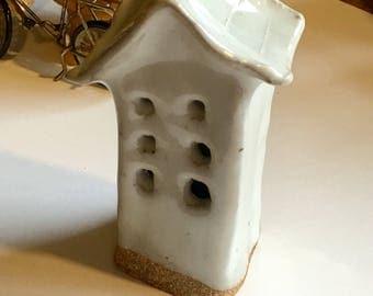 Adorable tiny white ceramic house