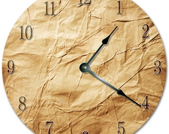 "10.5"" Crumpled PAPER Clock - Living Room Clock - Large 10.5"" Wall Clock - Home Décor Clock - 5490"