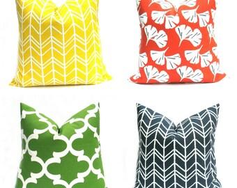 Outdoor Pillow Euro Pillow  Cover Outdoor Pillow Yellow Pillow Euro Sham Orange Pillow Indoor  Outdoor Decor Outdoor Pillows Yellow Throw