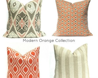 15% Off Sale Orange Pillow Orange Pillow Covers Throw Pillow Covers Decorative Pillows Tan Pillow Accent Pillow Pillows