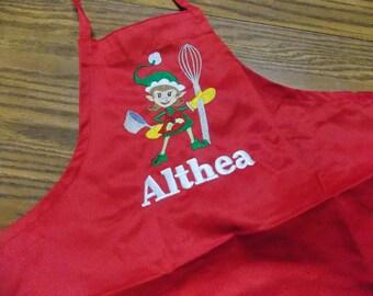 Christmas Apron Personalized Christmas Apron Kids Personalized Apron Kids Apron Adult Apron Adult Christmas Gift for Toddler Baking Apon