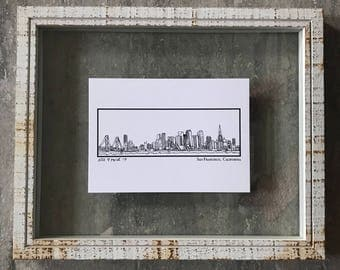 San Francisco California Skyline - Elle Karel Illustration