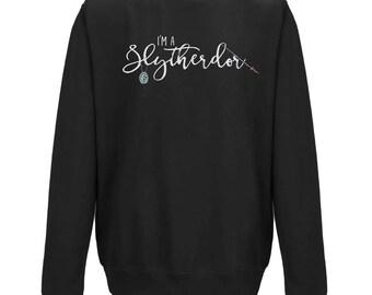 I'm A SLYTHERDOR Hogwarts House JUMPER | Slytherin and Gryffindor | Gift