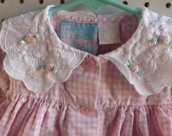 Baby Dresses, Vintage Kids Clothes, Baby Dresses, Baby Clothes, Pink & White