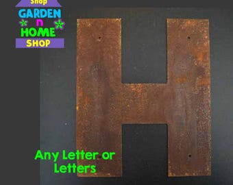 "12"" Rusted Metal Letters with or with out mounting holes"