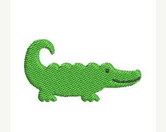 25% OFF Mini Alligator Embroidery Design - Instant Download