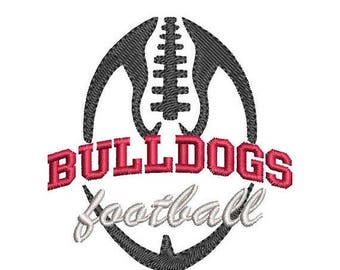 ON SALE Bulldogs Football Embroidery Design - Instant Download