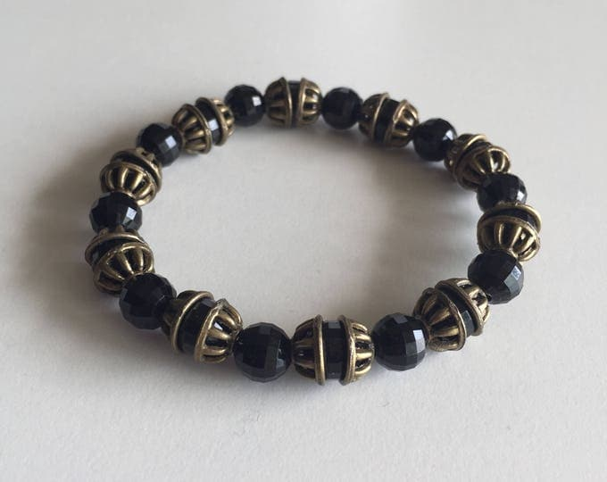 Bracelet with bronze spacer beads