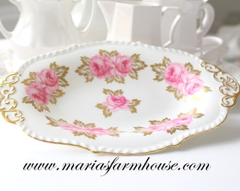 OVAL PLATE, Vintage, English Bone China Oval Plate/Tray by Royal Chelsea, Wedgwood Group, Replacement China