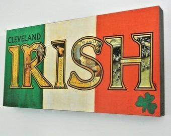 SALE - CLEVELAND IRISH - 12x24 Wood Panel