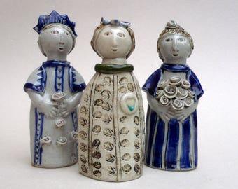 Ceramic Sculpture, Girl Figure , Child Sculpture, Art and Collectibles