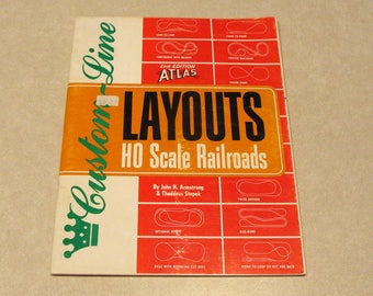 1986 Atlas Custom Line HO Scale Railroad Layouts, 48 Pages