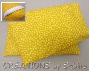 Hot Cold Pack Corn Pillow with washable cover Microwave Therapy Pad mustard yellow amber polka dots simple minimalist READY TO SHIP (493)