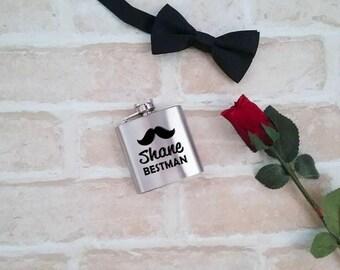Hip flask, personalised hip flask, groomsmen gift, best man hip flask, flask, etched flask, engraved flask, groomsman gift, wedding gift