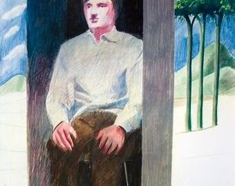 David Hockney-Prisoner from Amnesty International-1977 Poster