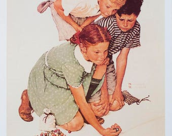 Norman Rockwell-Marbles Champ-1992 Poster