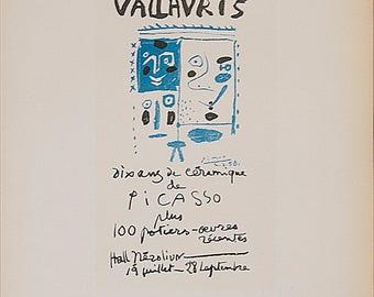 Pablo Picasso-Vallauris 10 ans de ceramique-1959 Mourlot Lithograph