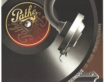 A.M. Cassandre-Pathe, L'enregistrement electrique-1980 Lithograph