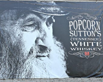 Moonshiners Sign / Popcorn Sutton Sign / Mountain Man / Photograph of a Sign / Nashville Tennessee / MVMayoPhotography / Free US Shipping