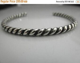 10%0FF Sterling silver twisted Cuff bracelet