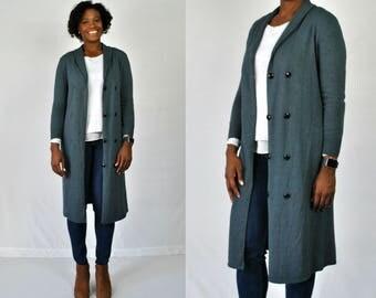 1980s Blue Sweater Coat