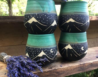 Mountain Wine Cup-Turquoise