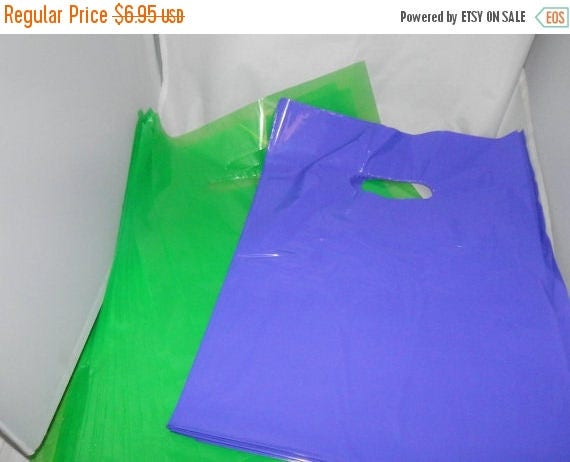 On Sale 100 pack 9 x 12 Lime Green and Purple Glossy Retail Merchandise bags  Low Density Plastic Merchandise Gift Bags