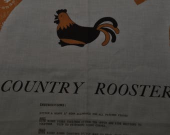 Rooster - Fabric Panel