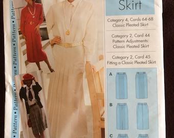 Skirt pattern women's sizes 4,6,8,10, 12,14,16,18,20,& 22