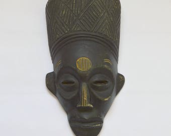 Vintage Carved Wood African Tribal Mask from Liberty's of London