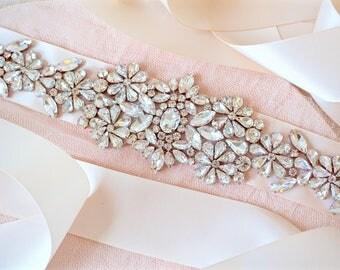 Rose Gold Rhinestone Sash,Rose Gold Bridal Sash,Rose Gold Wedding Sash,Rose Gold Crystal Sash,Rose Gold Bridal Belt,Rose Gold Wedding Belt