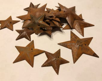 set of 3 different size rustic star ornaments embellishments, 27, 32 and 45 mm (BB1/6)