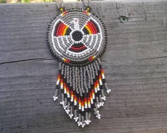 thunderbird necklace, native american beadwork