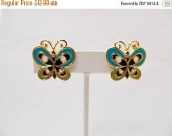 On Sale BOB MACKIE Enameled Butterfly Earrings Item K # 1941