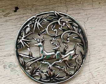 Large Vintage STAG brooch !!!