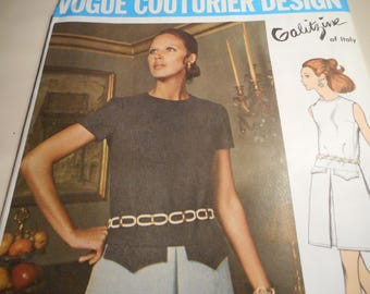 Vintage 1960's Vogue 2243 Couturier Design Galitzine Mod Dress Sewing Pattern Size 12 Bust 34