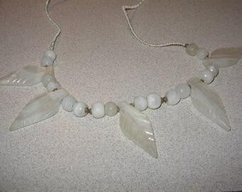 Onyx Bead Necklace Vintage Costume Jewelry #2453