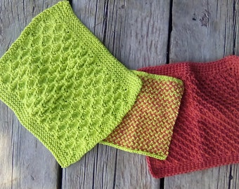 Textured wash and face cloths
