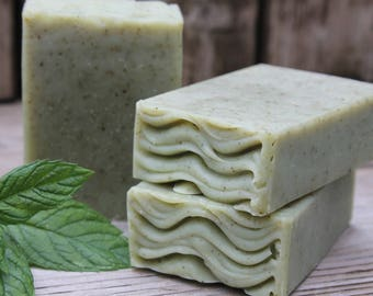 on sale | AVO-COCO MINT Soap | Handmade Cold Process Soap | Mint | Coconut Milk Soap | All Natural Soap | Essential Oils | Bar Soap