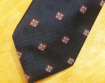 Brooks Brothers silk necktie flowers
