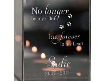 Modern Pet Memorial Engraved Tealight Candle Holder